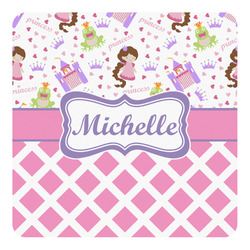 Princess & Diamond Print Square Decal (Personalized)