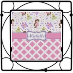 Princess & Diamond Print Square Trivet (Personalized)