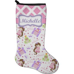 Princess & Diamond Print Christmas Stocking - Neoprene (Personalized)