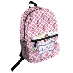 Princess & Diamond Print Student Backpack (Personalized)