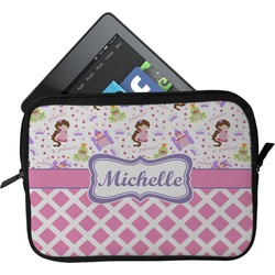 Princess & Diamond Print Tablet Case / Sleeve - Small (Personalized)