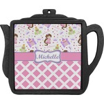 Princess & Diamond Print Teapot Trivet (Personalized)