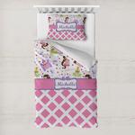 Princess & Diamond Print Toddler Bedding w/ Name or Text