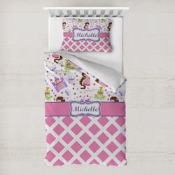Princess & Diamond Print Toddler Bedding Set w/ Name or Text