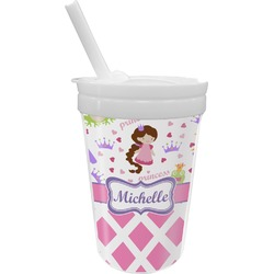 Princess & Diamond Print Sippy Cup with Straw (Personalized)