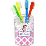 Princess & Diamond Print Toothbrush Holder (Personalized)