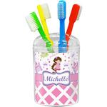 Princess & Diamond Print Toothbrush Holder (Personalized)
