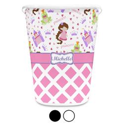 Princess & Diamond Print Waste Basket (Personalized)