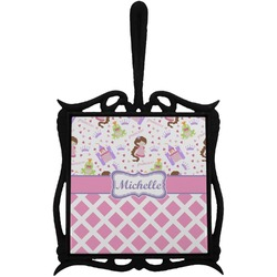 Princess & Diamond Print Trivet with Handle (Personalized)