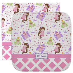 Princess & Diamond Print Facecloth / Wash Cloth (Personalized)