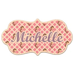 Princess & Diamond Print Genuine Wood Sticker (Personalized)