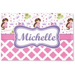 Princess & Diamond Print Woven Mat (Personalized)