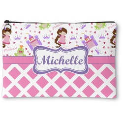 Princess & Diamond Print Zipper Pouch (Personalized)
