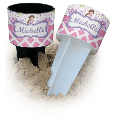 Princess & Diamond Print Beach Spiker Drink Holder (Personalized)