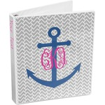 Monogram Anchor 3-Ring Binder (Personalized)