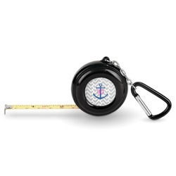 Monogram Anchor Pocket Tape Measure - 6 Ft w/ Carabiner Clip (Personalized)