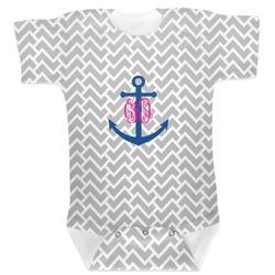 Monogram Anchor Baby Bodysuit 6-12 (Personalized)