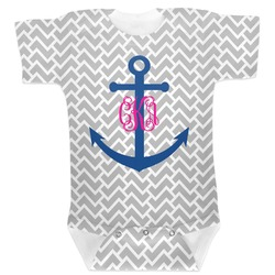 Monogram Anchor Baby Bodysuit (Personalized)