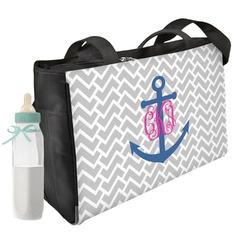 Monogram Anchor Diaper Bag Personalized