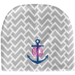 Monogram Anchor Baby Hat (Beanie) (Personalized)