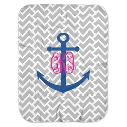 Monogram Anchor Baby Swaddling Blanket (Personalized)
