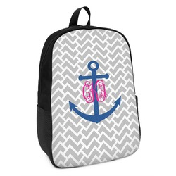 Monogram Anchor Kids Backpack (Personalized)