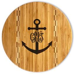 Monogram Anchor Bamboo Cutting Board