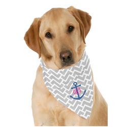 Monogram Anchor Dog Bandana Scarf