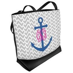 Monogram Anchor Beach Tote Bag (Personalized)