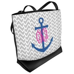 Monogram Anchor Beach Tote Bag (Personalized)