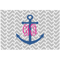 Monogram Anchor Placemat (Fabric) (Personalized)