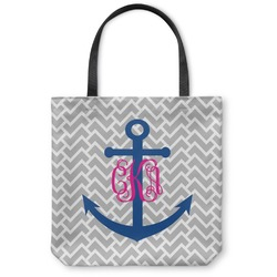 Monogram Anchor Canvas Tote Bag (Personalized)