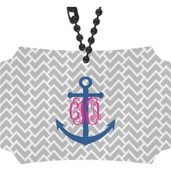 Monogram Anchor Rear View Mirror Ornament (Personalized)