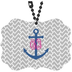 Monogram Anchor Rear View Mirror Decor (Personalized)