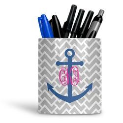 Monogram Anchor Ceramic Pen Holder