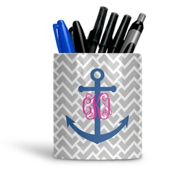 Monogram Anchor Ceramic Pen Holder