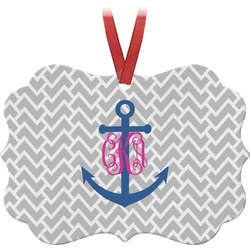 Monogram Anchor Ornament (Personalized)