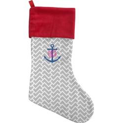 Monogram Anchor Christmas Stocking (Personalized)