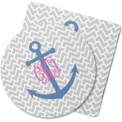 Monogram Anchor Rubber Backed Coaster (Personalized)