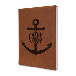 Monogram Anchor Leatherette Journal (Personalized)
