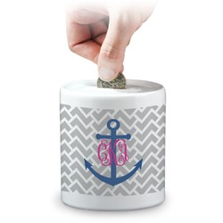Monogram Anchor Coin Bank (Personalized)