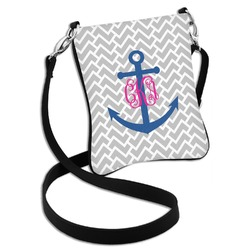 Monogram Anchor Cross Body Bag - 2 Sizes (Personalized)