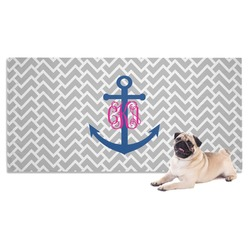 Monogram Anchor Dog Towel (Personalized)