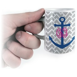 Monogram Anchor Espresso Mug - 3 oz (Personalized)