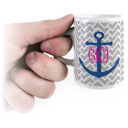 Monogram Anchor Espresso Cups (Personalized)