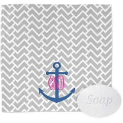 Monogram Anchor Wash Cloth (Personalized)