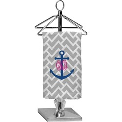 Monogram Anchor Finger Tip Towel - Full Print (Personalized)