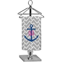 Monogram Anchor Finger Tip Towel - Full Print (Personalized)