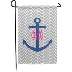 Monogram Anchor Garden Flag - Single or Double Sided (Personalized)