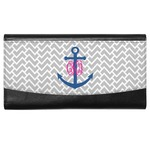 Monogram Anchor Genuine Leather Ladies Wallet (Personalized)